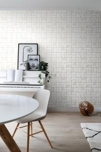 ESTA art deco wallpaper white and gold