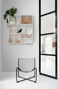 Grey bricks wallpaper