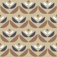 LAVMI wallpaper Cookies brown beige grey geometric flower