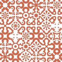 red geometric figures