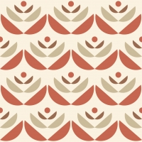 LAVMI wallpaper Cookies red beige geometric flower