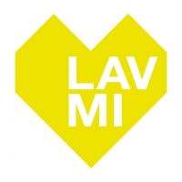 LAVMI wallpaper Hills grey and yellow lines