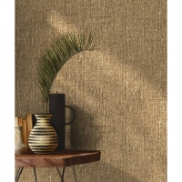 Brown Hessian imitation wallpaper