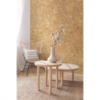 Natural cork squares imitation wallpaper