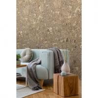 Brown cork squares imitation wallpaper