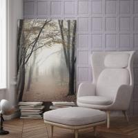 English wood panelling imitation wallpaper Wisteria