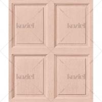 English wood panelling imitation wallpaper Salmon pink