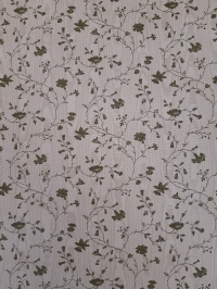 Vintage floral wallpaper with small green twigs