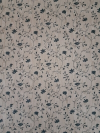 Vintage floral wallpaper with small blue twigs