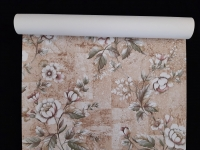 Vintage floral wallpaper with white and pink flowers