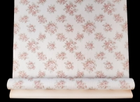 Vintage floral wallpaper with little pink flowers