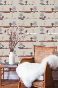 Egypt wallpaper taupe