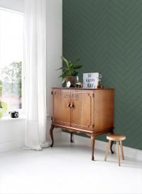 Dark green-black chevron wallpaper
