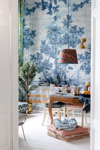 Premium wallpaper Azure Mural