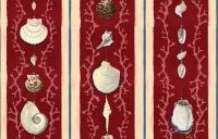 Premium wallpaper Coquillage red