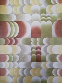 geometric vintage wallpaper green brown yellow