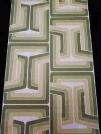 geometric vintage wallpaper green lines