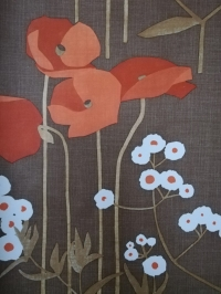 vintage floral wallpaper poppies