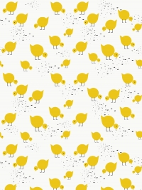 LAVMI wallpaper yellow birds on a white background