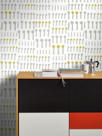 LAVMI wallpaper Together white-yellow