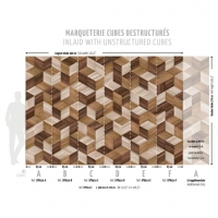 Unstructured cubes imitation wallpaper