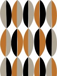 LAVMI wallpaper Ficus brown black grey geometric figure