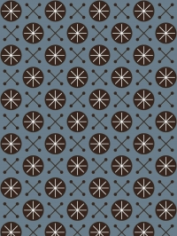 LAVMI wallaper Sky black geometric figure on a blue background