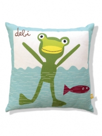 frog swimming kids pillow