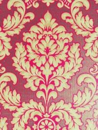 Red brown damask vintage wallpaper
