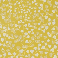 Miss Print wallpaper Fern yellow