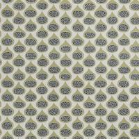 Miss Print wallpaper Fig Olive green