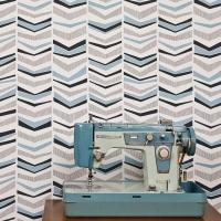 Miss Print wallpaper Chevron Bluebird