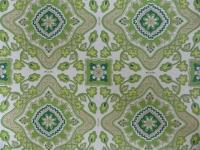 green flowers in a geometric pattern
