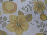 vintage floral wallpaper yellow brown