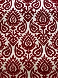 Bordeaux beige vintage flock wallpaper