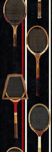 Tennis rackets wallpaper black