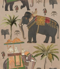 The elephants procession wallpaper