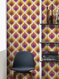 Ottoman pattern yellow purple