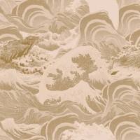 Premium wallpaper Sea Waves taupe