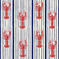 Premium wallpaper Red Lobsters on a blue background