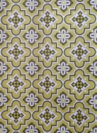 green geometric vintage wallpaper