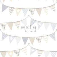 ESTA wallpapar flags beige grey