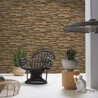 Exotic wood cladding wallpaper