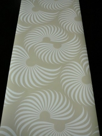 white wave on a beige background