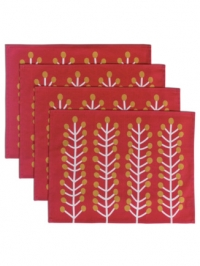 Herbs red placemats 4x