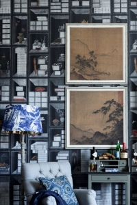 Premium wallpaper Korean Library