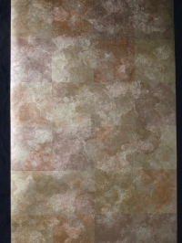 Vintage geometric wallpaper gold and copper