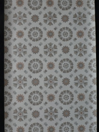 Vintage floral wallpaper with grey and taupe flowers