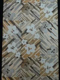 Vintage wallpaper brown grey flowers