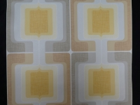 vintage geometric wallpaper grey yellow brown